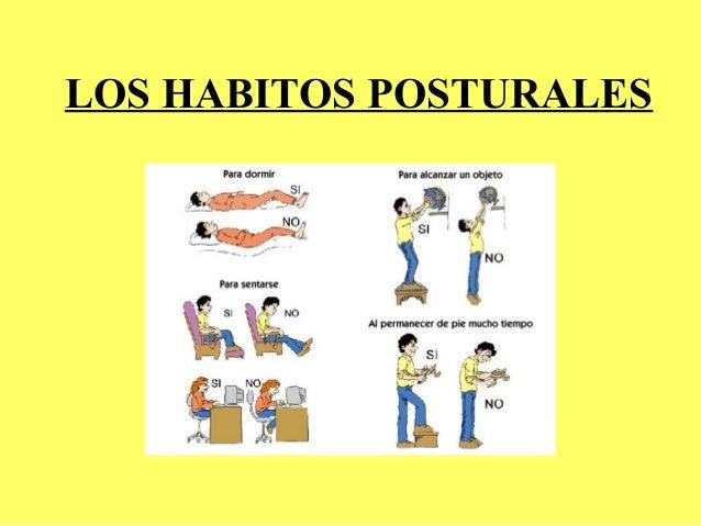 LOS HABITOS POSTURALES