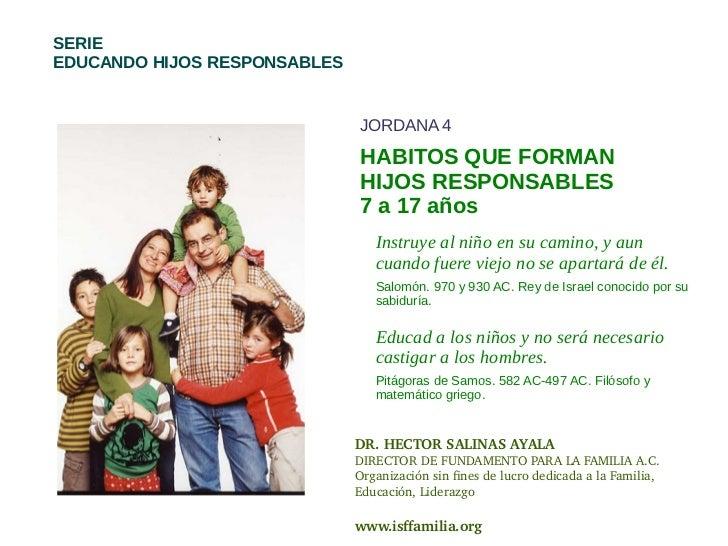 SERIEEDUCANDO HIJOS RESPONSABLES                              JORDANA 4                              HABITOS QUE FORMAN   ...