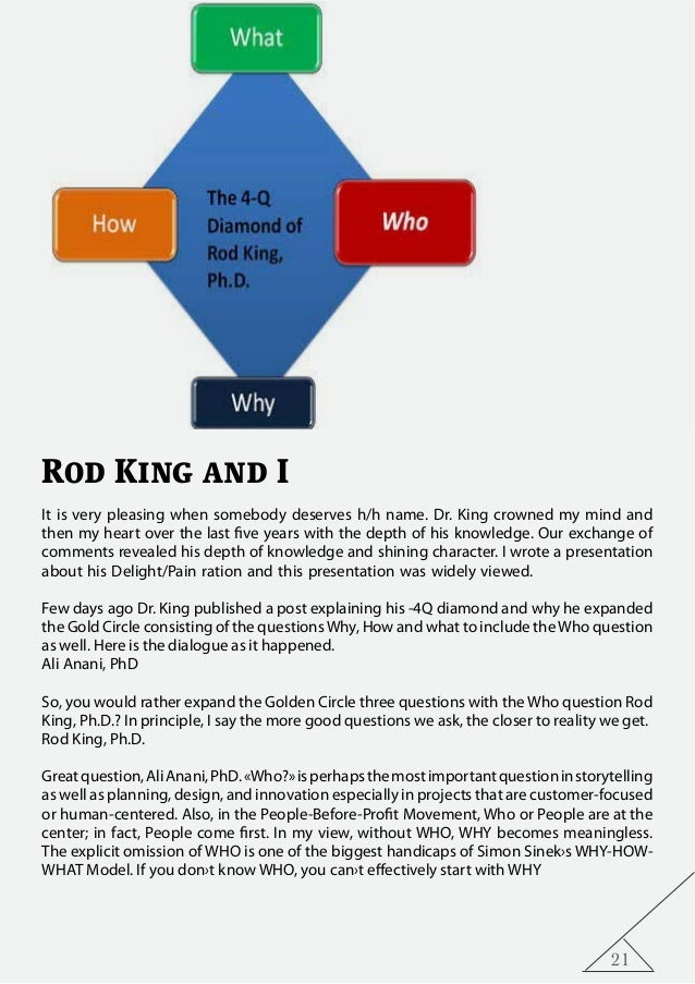 21 Rod King and I It is very pleasing when somebody deserves h/h name. Dr. King crowned my mind and then my heart over the...