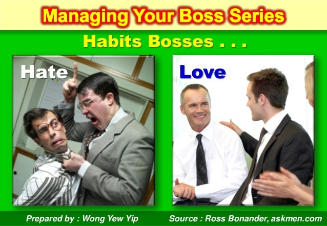 Prepared by : Wong Yew Yip (December 2012)Prepared by : Wong Yew YipHabits Bosses . . .Hate LoveSource : Ross Bonander, as...