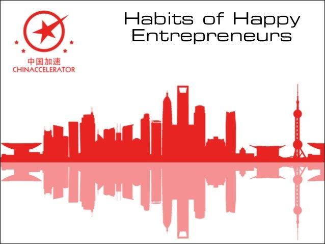 Habits of Happy Entrepreneurs