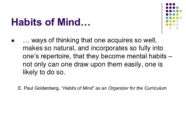 critical thinking consortium habits of mind