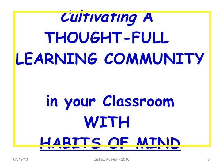 Cultivating thought essay