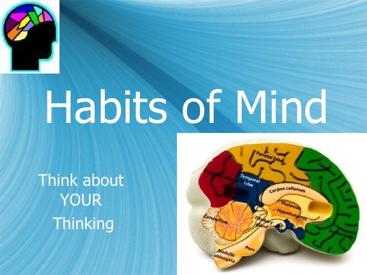 Habits of MindThink about   YOUR  Thinking