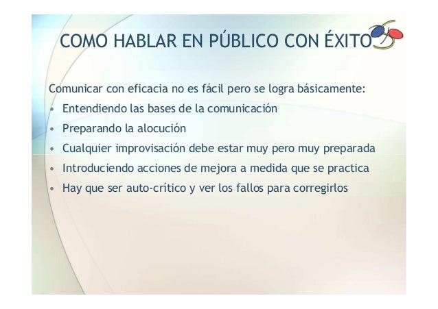 SEMINARIO: HABLAR EN PUBLICO (NO ES COSA DE ZOMBIS) Slide 3