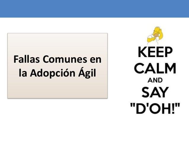 82 Fallas Comunes en la Adopción Ágil