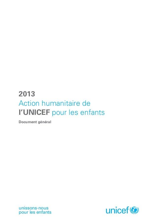Action humanitaire de l'UNICEF pour les enfants Slide 3