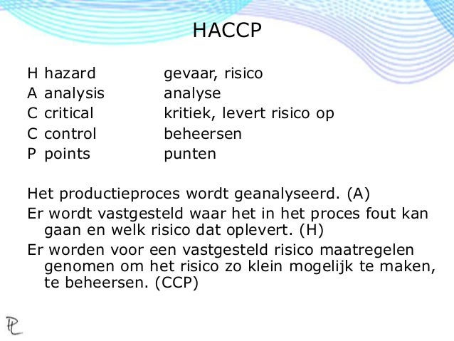 Haccp smulhuis