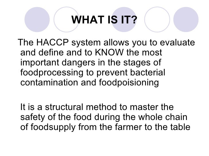 Haccp the total story - Haccp definition cuisine ...