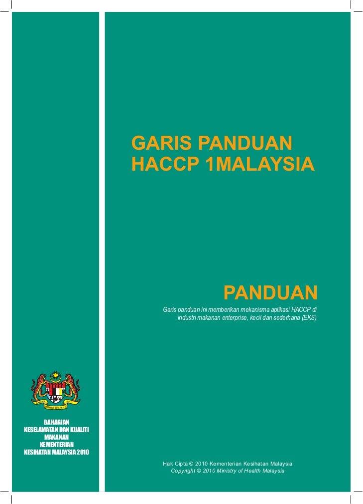 GARIS PANDUAN HACCP 1 MALAYSIA                                     GARIS PANDUAN                                     HACCP...