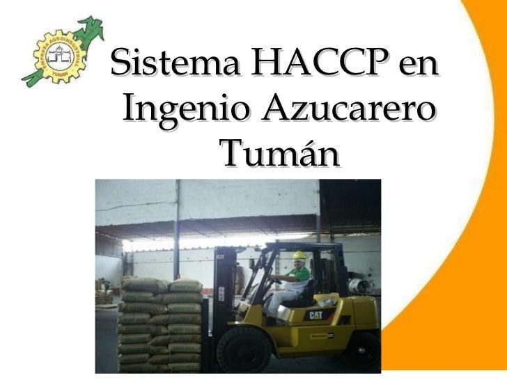 Sistema HACCP en  Ingenio Azucarero Tumán