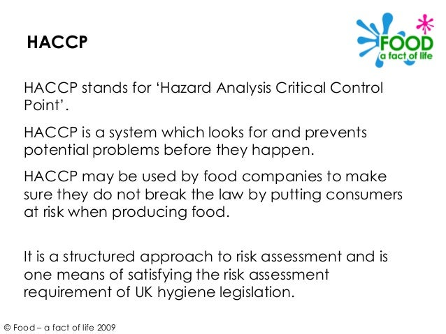 Haccp and food safety - Procedure haccp cuisine ...