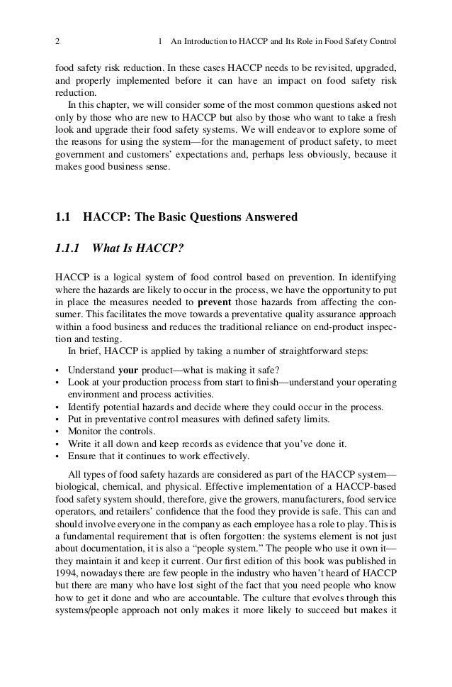 haccp case study pdf