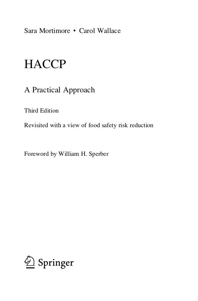 HACCP a practical approach