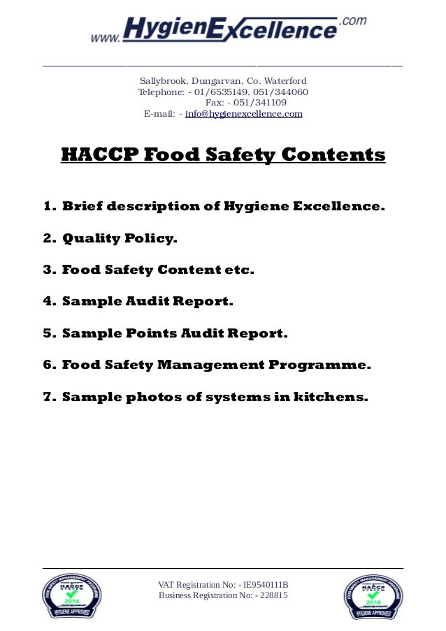 food safety personal hygiene haccp Our food hygiene basic haccp & safety training course is applicable to anyone generally working in the area of food production, preparation and delivery.