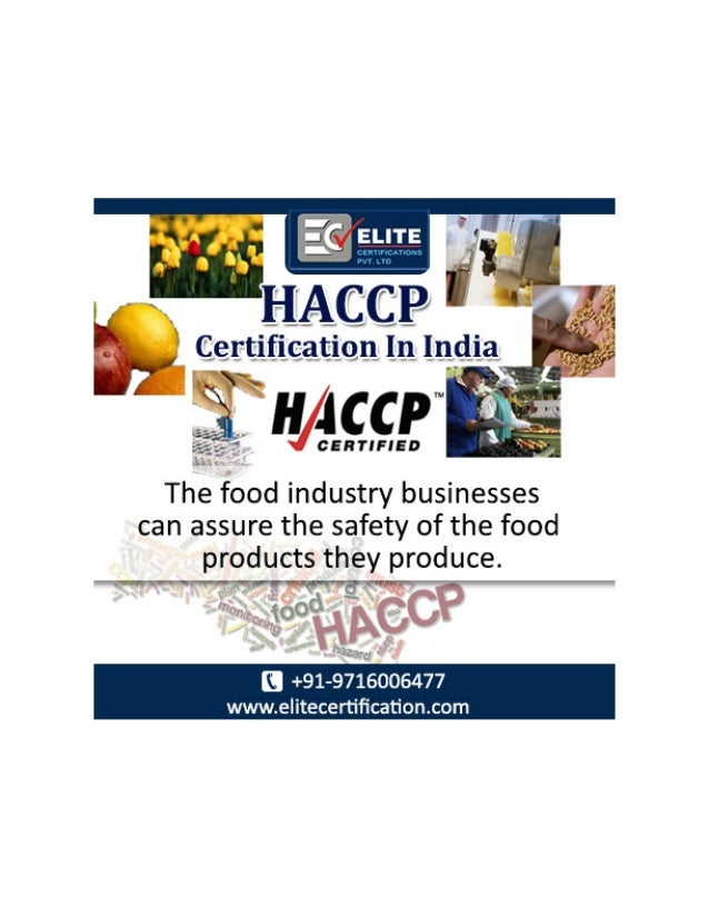 Haccp Certification Inindia