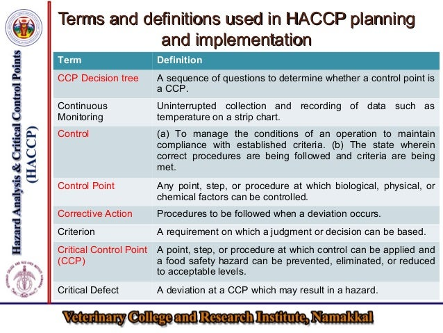 Haccp for the safety of livestock products - Haccp definition cuisine ...