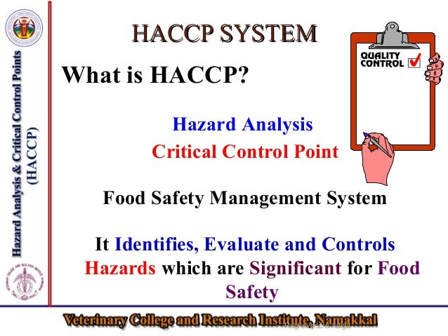 Haccp for the safety of livestock products - Procedure haccp cuisine ...