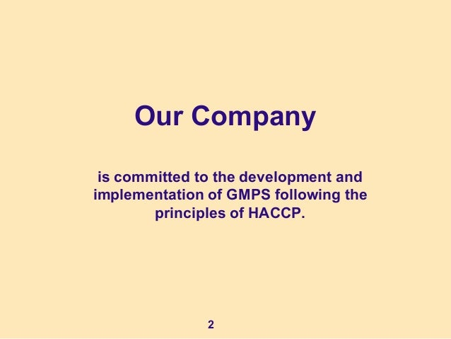 HACCP & GMP training