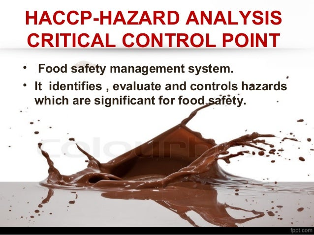section 3 the hazard analysis and critical control point