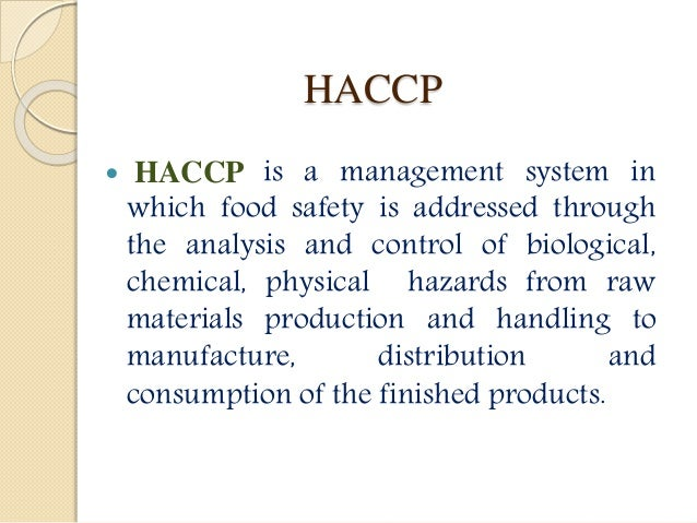 how to develop a haccp plan