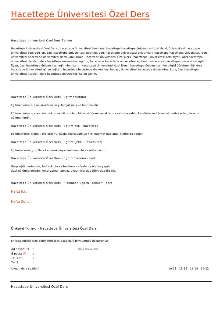 Hacettepe Üniversitesi Özel DersHacettepe Üniversitesi Özel Ders TanımıHacettepe Üniversitesi Özel Ders : hacettepe üniver...