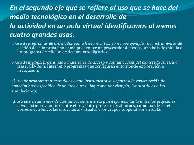 Ejemplo de organización de aula virtual