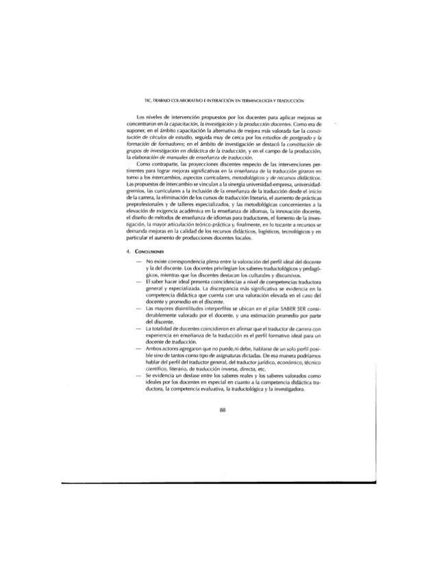 TIC,  TRABAJO COLABORAÏIVO E INÏERACClÓN EN TERMINOLOCÍAY TRADUCCIÓN  Los niveles de intervención propuestos por los docen...