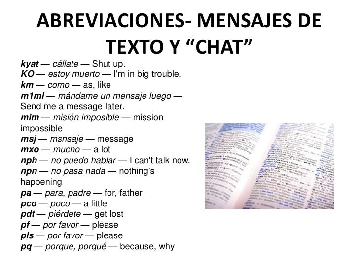 Texto chat