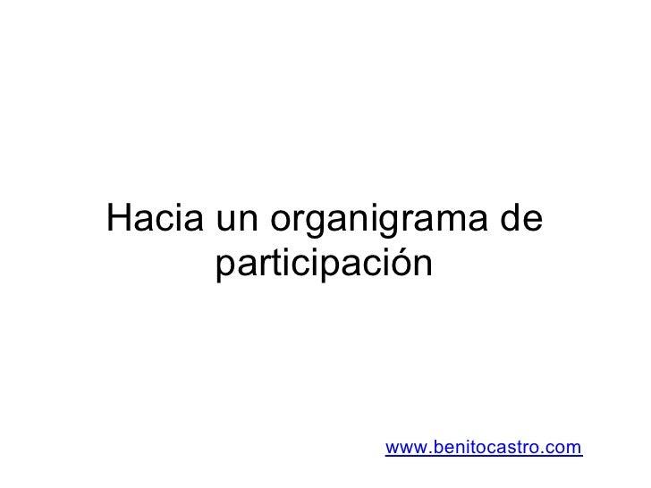 Hacia un organigrama de       participación                  www.benitocastro.com