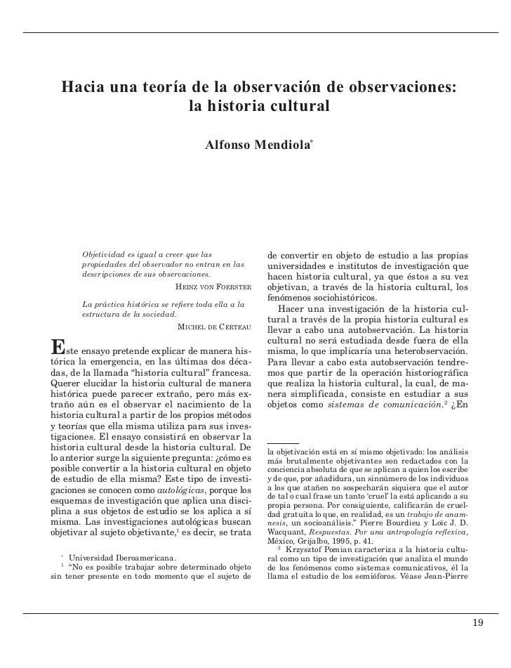 Hacia una teoría de la observación de observaciones:                  la historia cultural                                ...