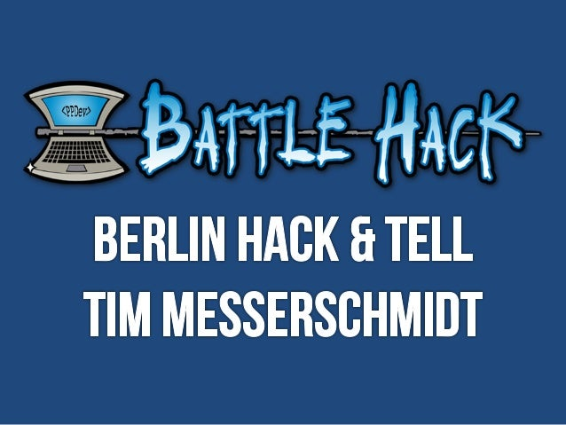 Hack & Tell