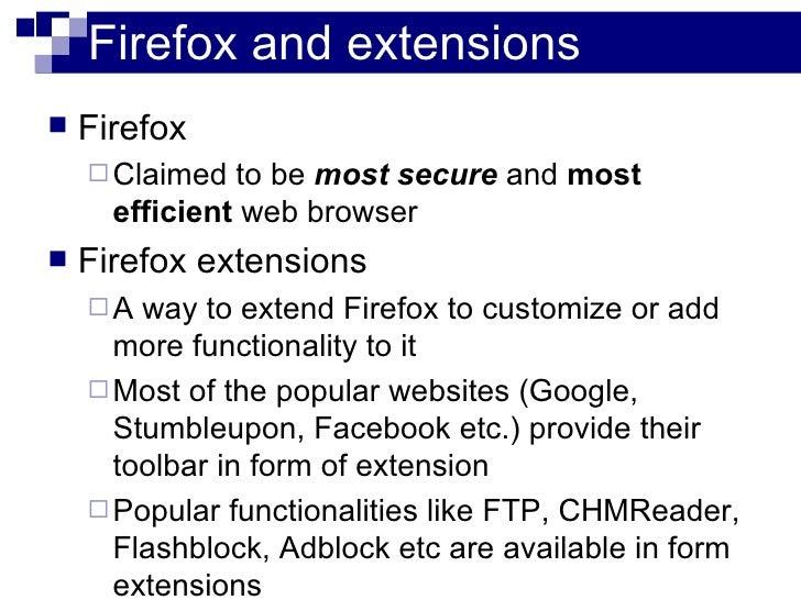 Hack Firefox to steal websecrets