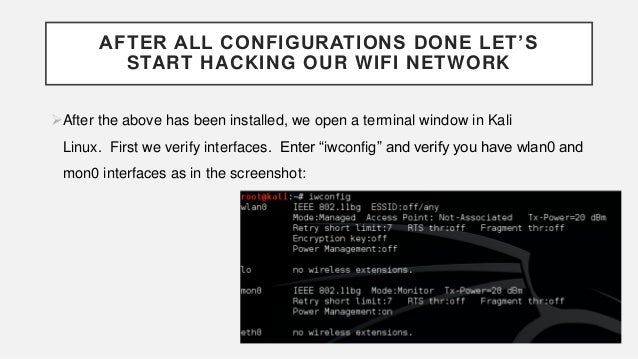 how can i hack wifi password using kali linux