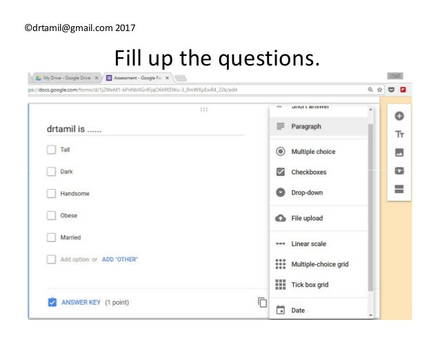 Hack#18 Using Google Forms For Quiz