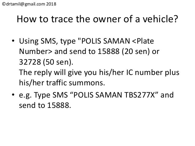 Hack#27 How To Trace The Vehicle Owner in Malaysia