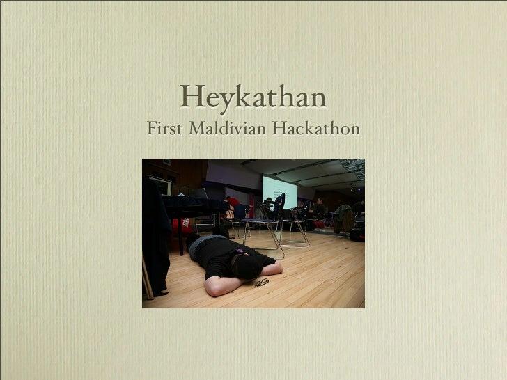 HeykathanFirst Maldivian Hackathon