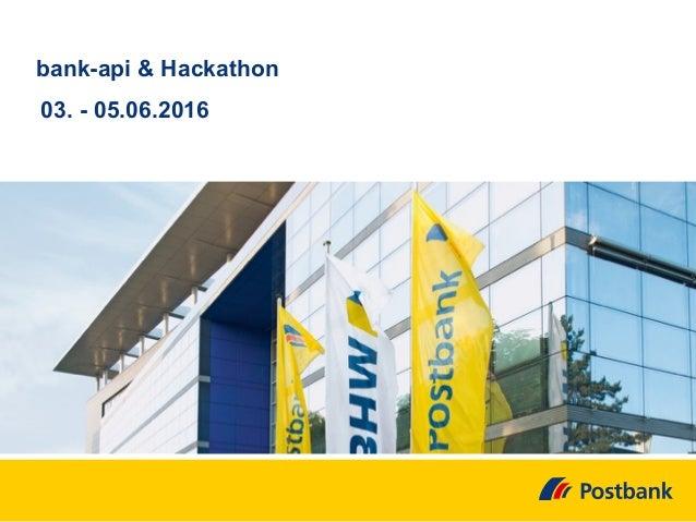 bank-api & Hackathon 03. - 05.06.2016