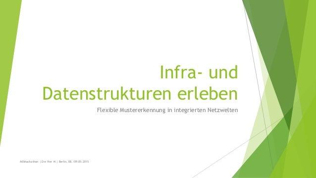 Infra- und Datenstrukturen erleben Flexible Mustererkennung in integrierten Netzwelten #dbhackathon | Die Vier M | Berlin,...