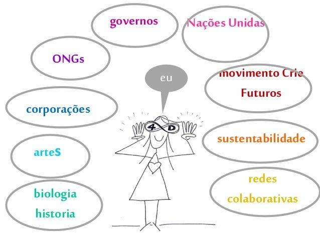 Nações Unidas movimento Crie Futuros sustentabilidade redes colaborativas artes biologia historia corporações ONGs governo...