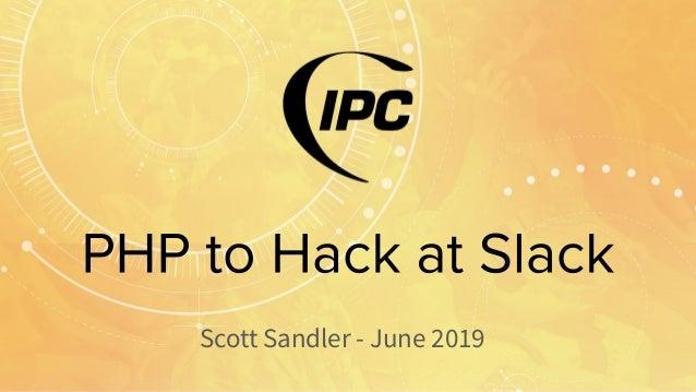 Scott Sandler - June 2019