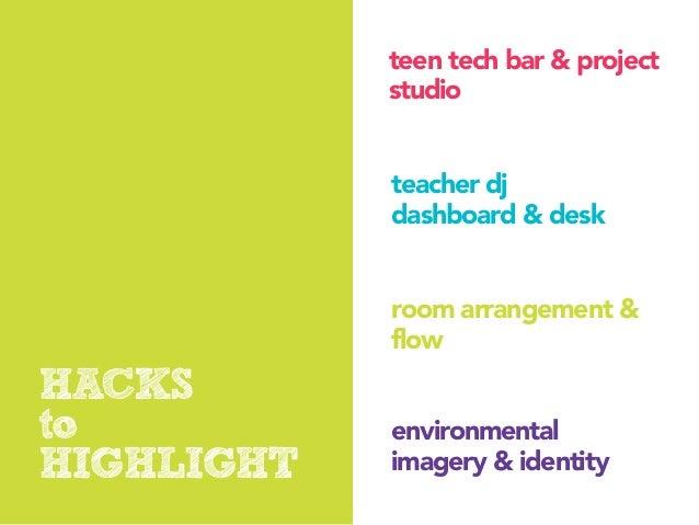 teen tech bar & project            studio            teacher dj            dashboard & desk            room arrangement & ...