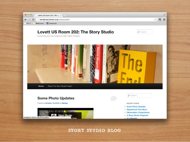 """How does the design of the """"story studio""""...                                   Empower                                   m..."""