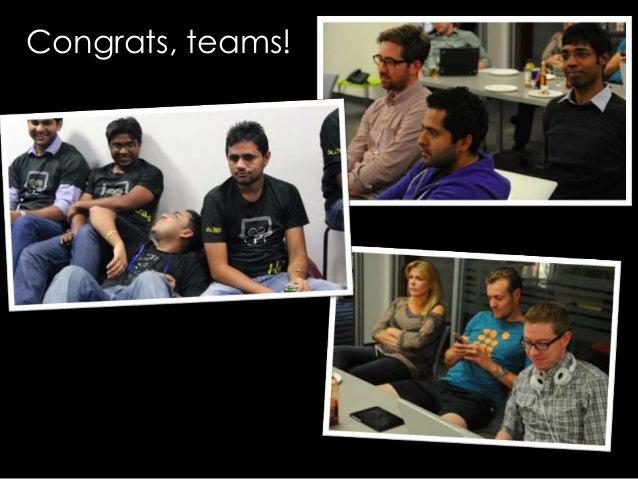 More SlideShare hackday 2013 photos: http://www.flickr.com/photos/graydot/sets/72157636219622864/ https://www.dropbox.com/...