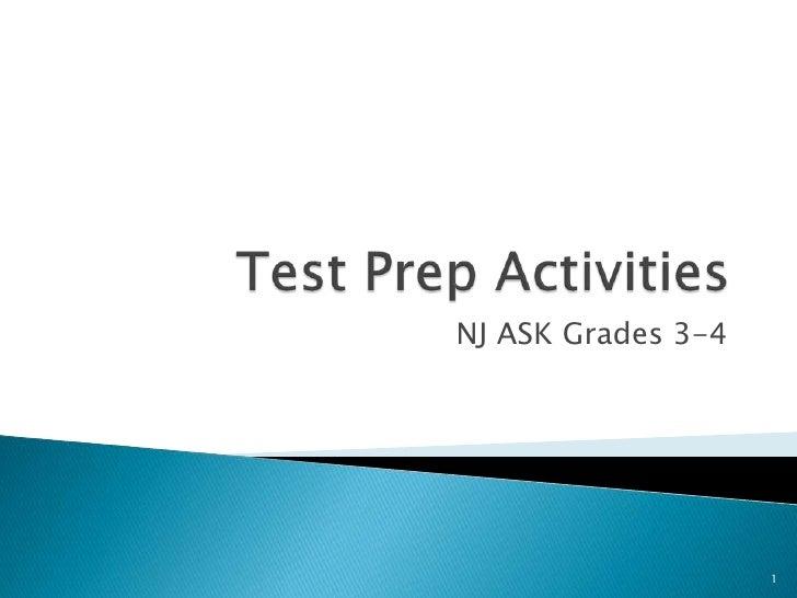 Test Prep Activities<br />NJ ASK Grades 3-4<br />1<br />