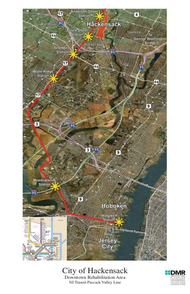 City of Hackensack Downtown Rehabilitation Area NJ Transit Pascack Valley Line