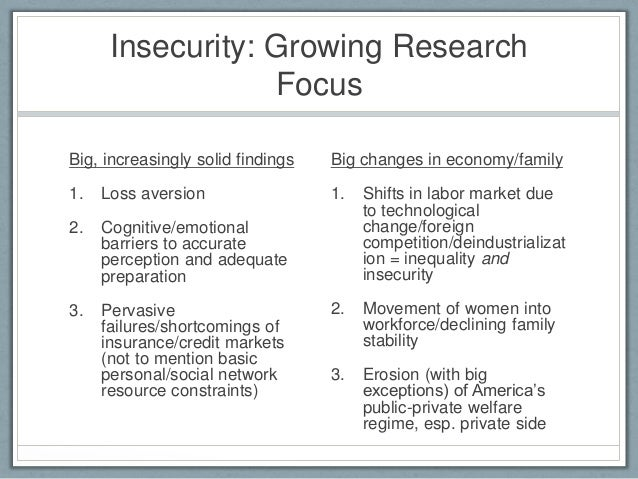 job insecurity and outcomes psychology essay The effects of unemployment and perceived job insecurity: a comparison of their association with psychological and somatic complaints, self-rated health and.