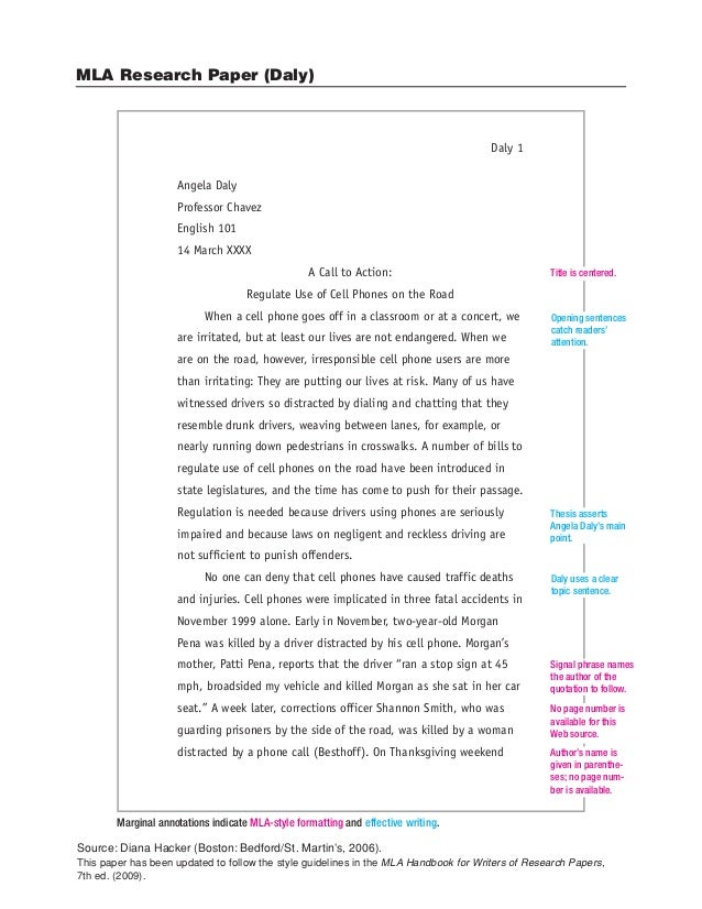 Mla sample essay