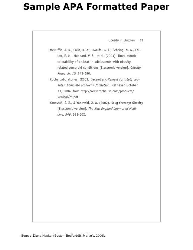 sample apa formatted paper