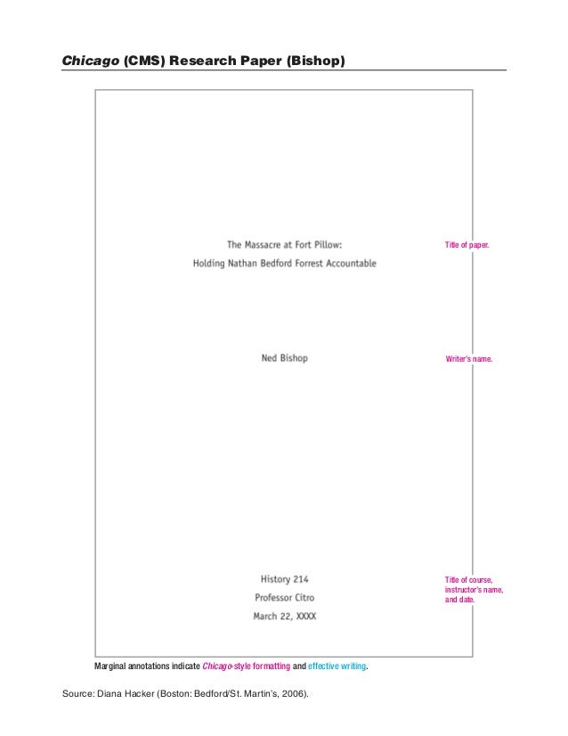 chicago format research paper